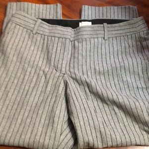 Gray pinstriped cropped pants